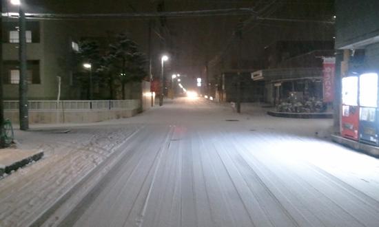 雪の山形市内